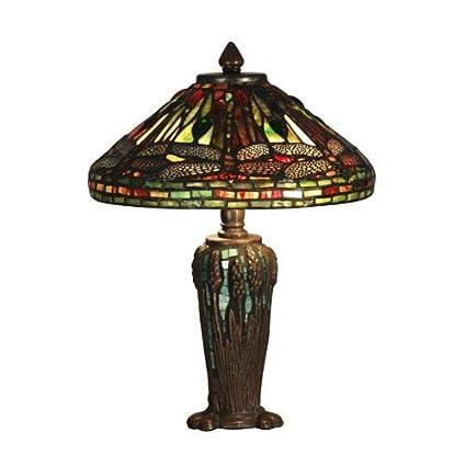 1892f583437f Dale Tiffany TT10333 Dragonfly Jewel Table Lamp