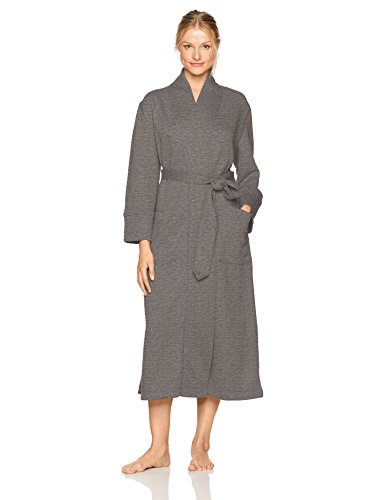 Natori Women's Akimo Quilted Robe, Heather Grey, Small by Natori