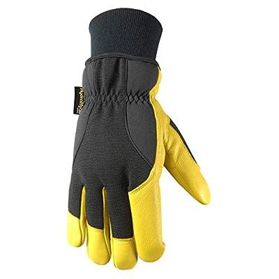 Wells Lamont Insulated Grain Goatskin HydraHyde Leather Work Gloves