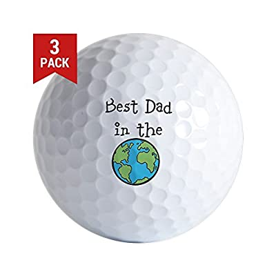 CafePress - Best Dad In The World Golf Ball - Golf Balls (3-Pack), Unique Printed Golf Balls