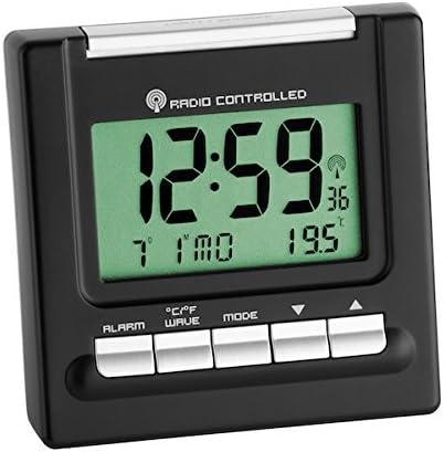 TFA 98.1087 Reloj Despertador Digital Negro