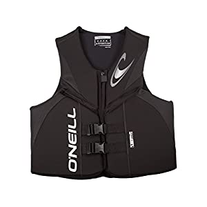 O'Neill Men's Reactor USCG Life Vest, Black/Black/Black,3X-Large