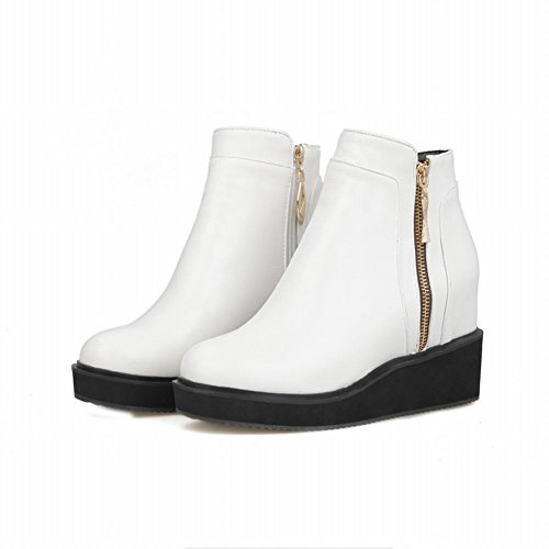 Zip Carolbar Boots Women's White Martin Hidden Wedge Heel OI4IwxPrq