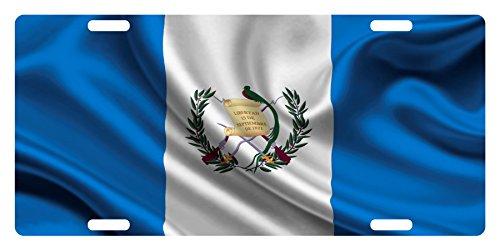 Fast Service Designs Guatemala Flag Custom License Plate Guatemalan Central American Emblem Version # 2 (Wave Version II)