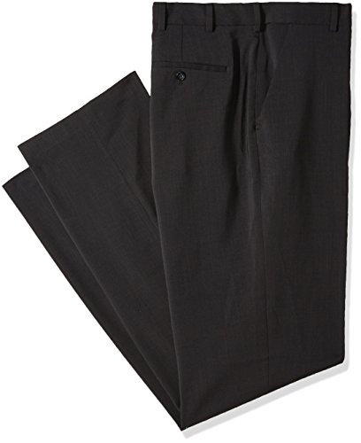 Gray Charcoal Pants Dress (Van Heusen Men's Big and Tall Traveler Stretch Flat Front Dress Pant, Charcoal, 34W X 38L)