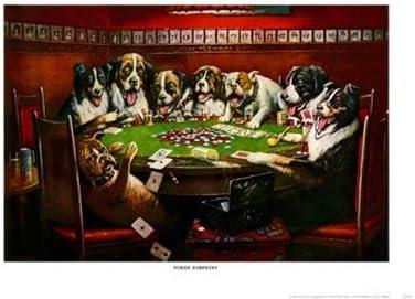 Lámina Poker Sympathy, perros jugando al poker, de Cassius Marcellus Coolidge, Tamaño: 64 x 48 cm: Amazon.es: Hogar