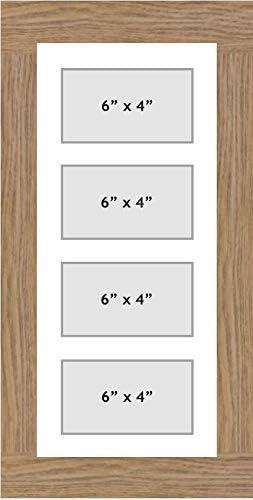 Multi Aperture picture frame fits 4 6x4 photos frames landscape white mount