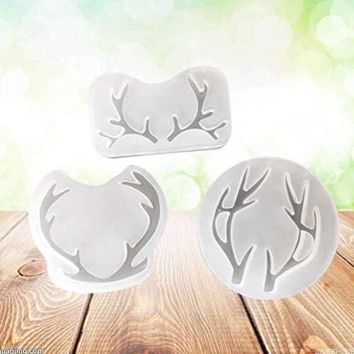 SUPVOX Moldes de silicona 3 en 1 moldes para pasteles moldes de hielo moldes de jab/ón para el hogar pasteles moldes de gelatina de chocolate bandeja para renos de navidad decoraci/ón de anlter
