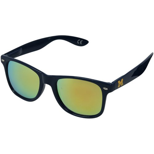 NCAA Michigan Wolverines MICH-1 Blue Frame, Gold Lenses Sunglasses, One Size, Blue