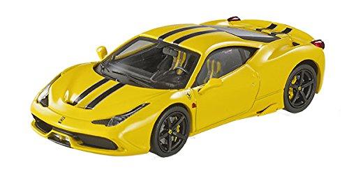 Hot wheels BLY46 Ferrari 458 Italia Speciale Yellow Elite Edition 1/43 Diecast Car Model by Hotwheels (Edition Special Ferrari)