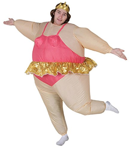 Ballerina Inflatable Adult Costume - Size Standard - One Size Fits Most
