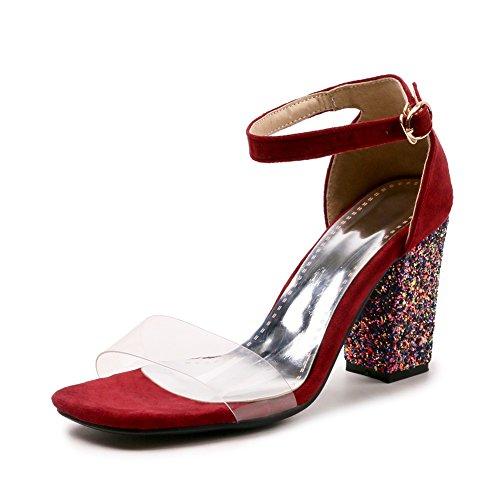 Rojo de Talla Mujer Vestir DoraTasia Sandalias para Color 1Pfpgq