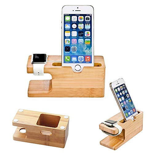 Gold Cherry Apple Watch Stand, Gold Cherry bamboo charging dock Station charger holder stand for Apple Watch Iwatch series 1 /2 /3 38mm/42mm iPhone 5 5s 5c 6 6 Plus  7 7 Plus 8 8 Plus iPhone X 2017 release price tips cheap