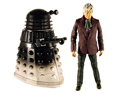 "Doctor Who 5"" Action Figure 2 Pack 3rd Doctor with Light Wave Dalek"