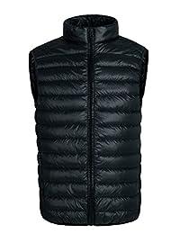 HengJia Men's Packable Down Vest Puffer Vest Lightweight Down Winter Vest
