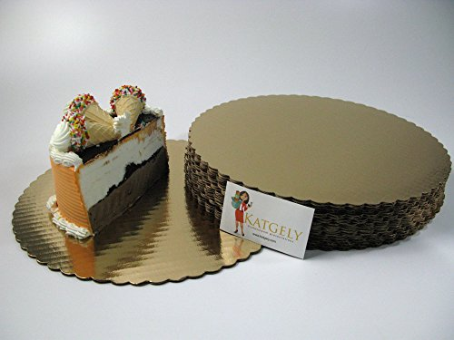 Katgely Gold Cake Board 12 Inch Round Give an Elegant Touch