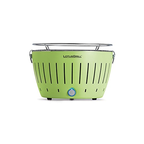 Lotus Grill Outdoor Portable Smokeless Battery Operated Grill (Green)