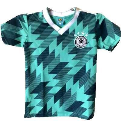 付添人管理鮮やかな?代引可?子供用 K115 ドイツ メロン 19 ゲームシャツ パンツ付