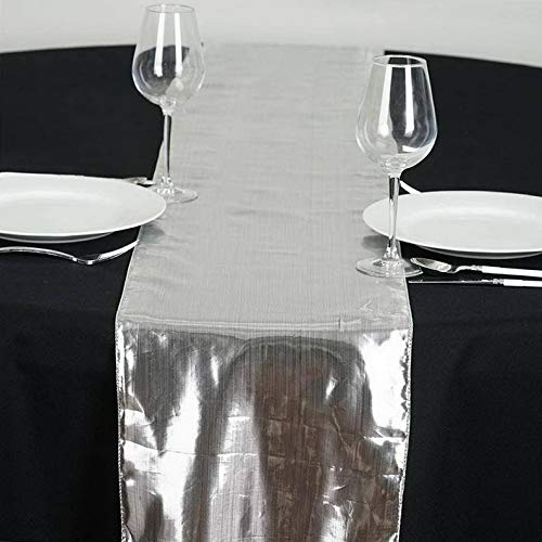 - Mikash 13x108 Metallic Shiny Tissue Lame Table Runner Wedding Party Event Decorations | Model WDDNGDCRTN - 14188 |