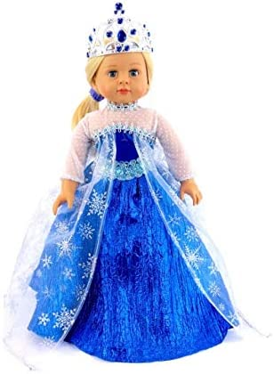 """New Snow Queen Elsa Anna Princess Doll Clothes Fit For 18/"""" American Girl Doll"""