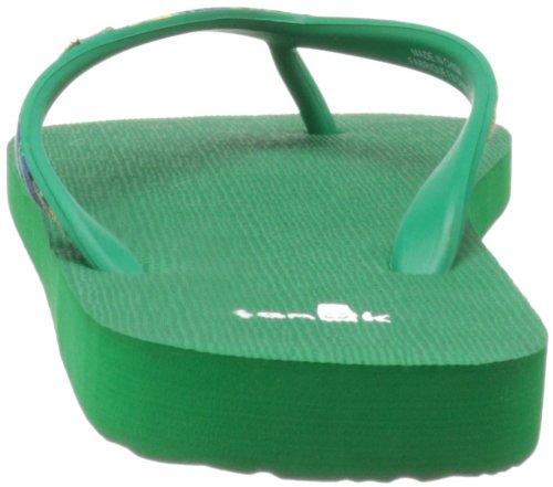 Sanuk Mujer Shimmy Flip-Flop Verde