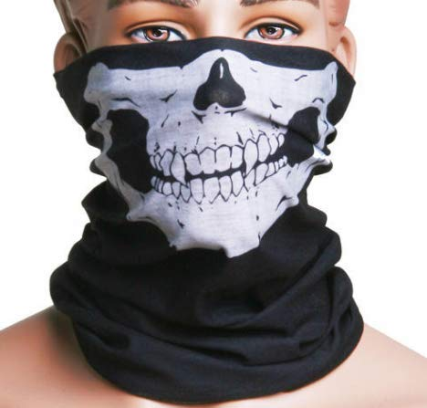 Great Gift ! Skull Mask Balaclava Bandana Headwear Scarf Neck Face Warmer \ Motorcycle Scooter Bike Flip Up Helmets Performance Clothing Dance Props Skeleton Tongue Bar Face Dress Ghosts Ugly Men Party Adult Clown Hat Up Hood Funny Haunted Animal Weird Sou