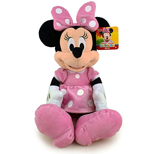 Minnie Mouse Plush Toy - Minnie 10782 Kids Plush Toy, Pink, 15.5