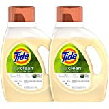 Tide Purclean Plant-Based Laundry Detergent, Unscented, 2x50 oz, 64 Loads (Packaging May Vary)