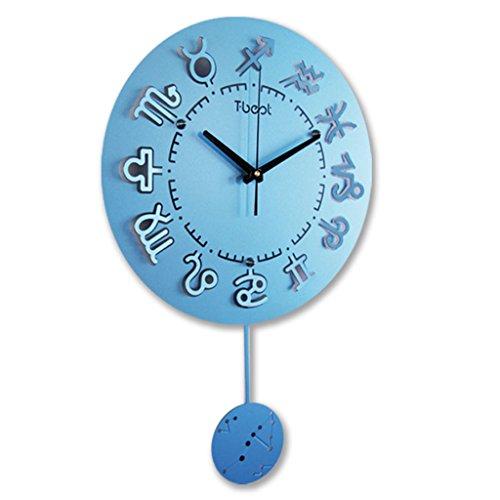 (LIYANGZ Twelve Constellation Metal Wall Clock Living Room Modern Minimalist Hanging Table Quartz Clock Creative Clock Wall Clock 5638cm Watch)