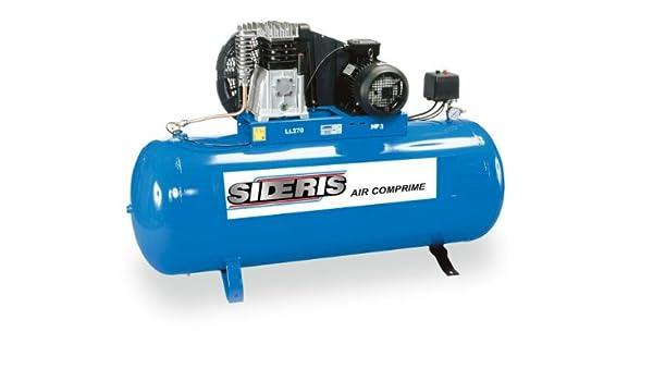 Compresor de aire 3 CV, monofásica bicylindre, 270 L: Amazon.es ...