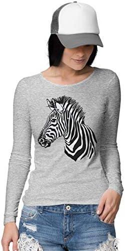 BLAK TEE Mejur Animal Kingdom Zebra Portrait Camisa De Manga Larga: Amazon.es: Ropa y accesorios