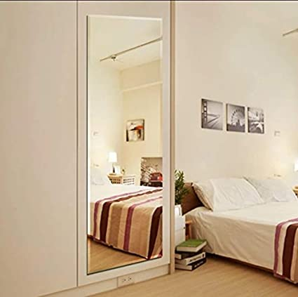 Infinite Reflections Beveled Bathroom Mirrors Wall Mounted, Modern Frameless Full Length Mirror for Bathroom, Bedroom, Living Room (18'' x 54'')