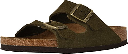 - Birkenstock Women's Arizona Soft Footbed Sandal Forest Suede Size 38 N EU