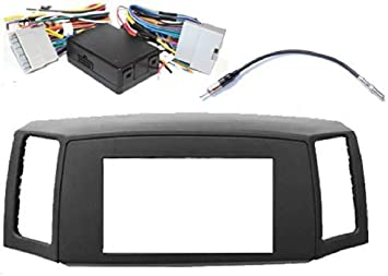 Amazon.com: Custom Install Parts Double Din Navigation Radio Bezel Dash  Install Kit with Premium Wiring Harness with and Antenna Adapter - GREY  Compatible With Jeep Grand Cherokee 2005-2007: Automotive | 2005 Grand Cherokee Wiring Harness |  | Amazon.com