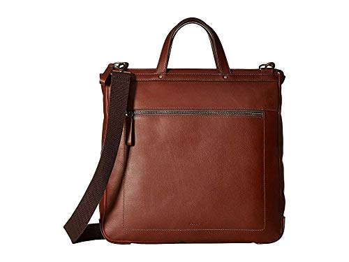 Fossil Men's Haskell Ns Workbag Laptop Bag, Brown, One Size