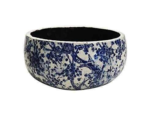Newly Designed old world vintage blue and white ceramic garden
