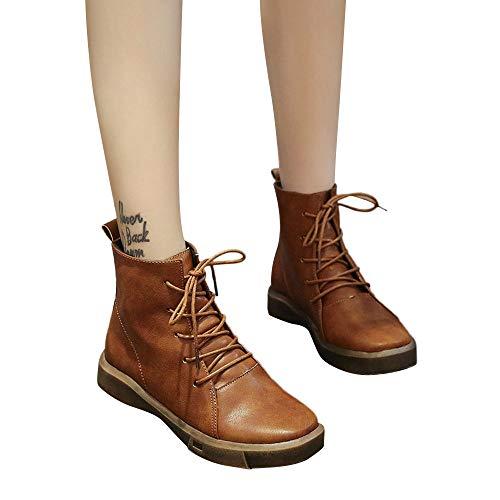 Femmes Plat Rond Jerfer Aide Vert slip Cylindre Boots Noir Marronchaussures Martin Haut Anti Hiver 35 Marron Bout 40 fwqqd