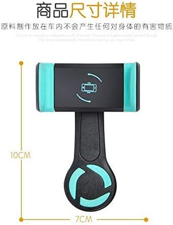 360度回転車電話ホルダー空気出口長いロッドクリップ車ユニバーサルナビゲーションブラケット (Color : Ablue)