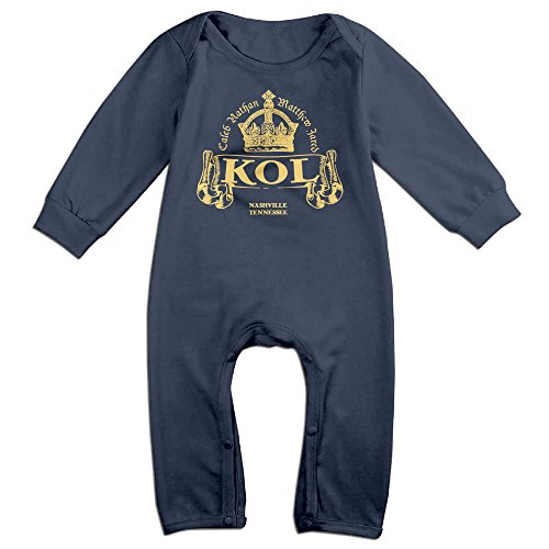 DHome King Of Leon Long-sleeve Infant Soft Jumpsuit Navy 24 Months
