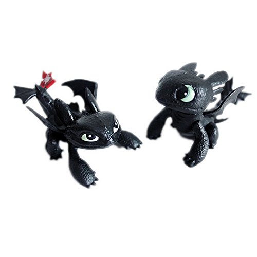 [How To Train Your Dragon Toothless Mini Figure Kids Toys Dolls Gift Set 2pcs] (Alvin And The Chipmunks Costumes For Kids)