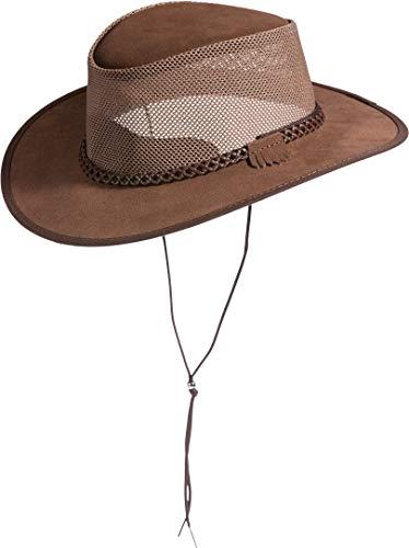 Monterey Bay Crushable Leather Breezer Western Hat Mocha