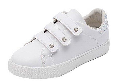 Blue Hook Pumps Shoes Heels Low and Loop WeenFashion Women's Microfiber Studded vw8O5qOH