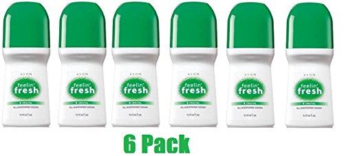 (Avon Feelin Fresh Original Roll On Antipirspirant Deodorant 2.6 fl.oz. Lot 6 pcs.)