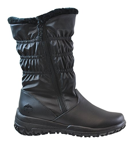 Available in Medium and Wide Width Totes Womens Nicole Black Snow Boots