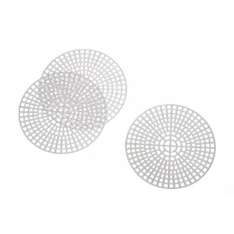 (Darice & Catan Floral DAR33005 Plastic Canvas Circle 3 in., 10 Pieces, Pack of 3)