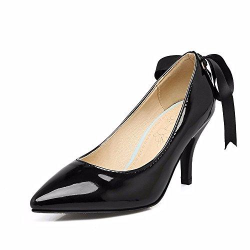 RFF Zapatos Tamaño Punta la de de Mujer Cinta de Después Zapata Women's Venda Shoes Zapatos black Pintura Arco Tacón AYAr7wq
