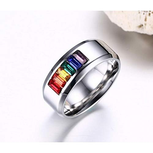 JZIEHI Fine Jewelry Women Gorgeous Rainbow Titanium