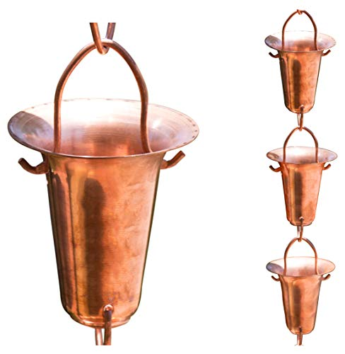 (Monarch Pure Copper Funnel Rain Chain, 8-1/2-Feet Length)