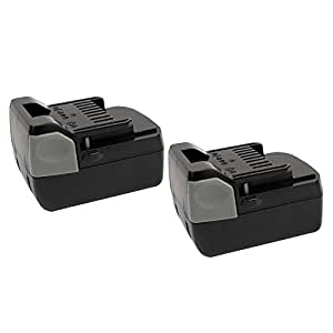 2 Pack MASIONE 18-volt BSL1815 Lithium Ion Battery for HITACHI 18v Cordless Power Drill Tools 330139 330557 BSL1815X BSL1815S BSL1830