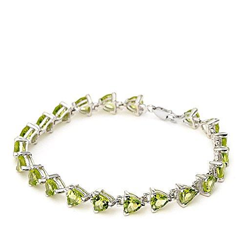 Silvancé - Bracelet femme - Argent 925/1000 - Péridot véritable - B246P_SSR